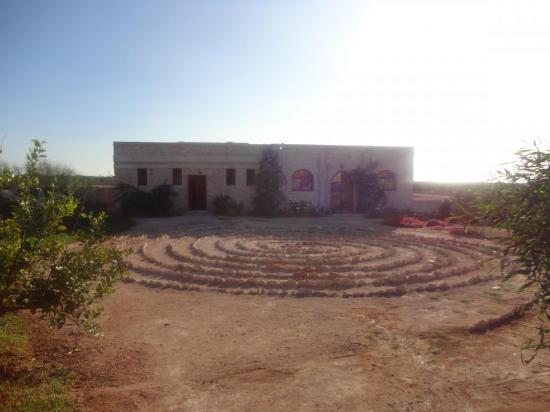 salle  et spirale méditative